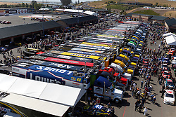 June 26, 2011; Sonoma, CA, USA;  General view of the garage area before the Toyota/Save Mart 350 at Infineon Raceway.