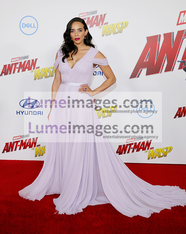 Hannah John-Kamen at the Los Angeles premiere of 'Ant-Man And The Wasp' held at the El Capitan Theatre in Hollywood, USA on June 25, 2018.