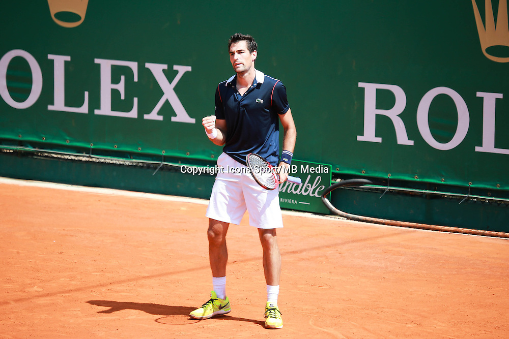 Jeremy Chardy - 14.04.2015 - Tournoi de Monte Carlo - Masters 1000 -<br />Photo : Serge Haouzi / Icon Sport