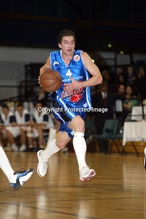 29th June 2002 at the Queens Wharf Events Centre in Wellington. Wellington Saints Mark Dickel during their game against Palmerston North Jets.<br />