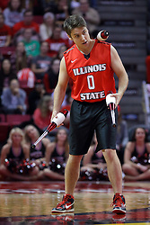 04 December 2016:   9 time gold medal winner in Juggling, Josh Horton performs at half time during an NCAA  mens basketball game between the New Mexico Lobos the Illinois State Redbirds in a non-conference game at Redbird Arena, Normal IL