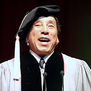 Smokey Robinson received an honorary doctorate degree and gave a commencement speech at Berklee College of Music's commencement ceremony, 2009