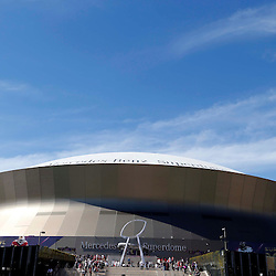 Feb 3, 2013; New Orleans, LA, USA; A general view as fans arrive for Super Bowl XLVII between the San Francisco 49ers and the Baltimore Ravens at the Mercedes-Benz Superdome. Mandatory Credit: Derick E. Hingle-USA TODAY Sports