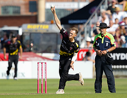 Somerset's Max Waller<br /> <br /> Photographer Simon King/Replay Images<br /> <br /> Vitality Blast T20 - Round 1 - Somerset v Gloucestershire - Friday 6th July 2018 - Cooper Associates County Ground - Taunton<br /> <br /> World Copyright © Replay Images . All rights reserved. info@replayimages.co.uk - http://replayimages.co.uk