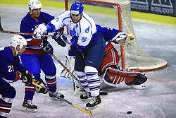 Toni Tisler, Andrej Vidmar and Evgeny Shtepa at friendly ice-hockey game Slovenia Oldies vs Gazprom Export (Russia), on October 24, 2008 in Hala Tivoli, Ljubljana, Slovenia. Gazprom Export won 6:3.(Photo by Vid Ponikvar / Sportal Images)