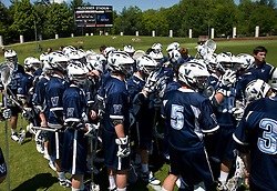 The Villanova Wildcats before the start of the UVA game.  The #5 ranked Virginia Cavaliers defeated the #19 ranked Villanova Wildcats 18-6 in the first round of the 2008 NCAA Men's Lacrosse Tournament the University of Virginia's Klockner Stadium in Charlottesville, VA on May 10, 2009.