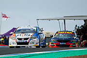 Rory BUTCHER Cobra Sport AmD AutoAid/RCIB Insurance &Andrew JORDAN BMW Pirtek Racing exit Duffers dip during Round 23 of the Kwikfit British Touring Car Championship at Knockhill Racing Circuit, Dunfermline, Scotland on 15 September 2019.