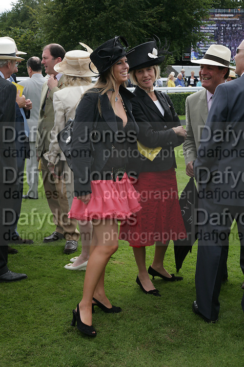 Davina Hobbs and Diana Hobbs, ( Highclere) Glorious Goodwood. 2 August 2007.  -DO NOT ARCHIVE-© Copyright Photograph by Dafydd Jones. 248 Clapham Rd. London SW9 0PZ. Tel 0207 820 0771. www.dafjones.com.