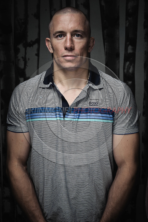 LONDON, ENGLAND, JULY 26, 2011: Georges St. Pierre poses for a portrait inside Roger Gracie's Brazillian Jiu Jitsu Academy in London, England.
