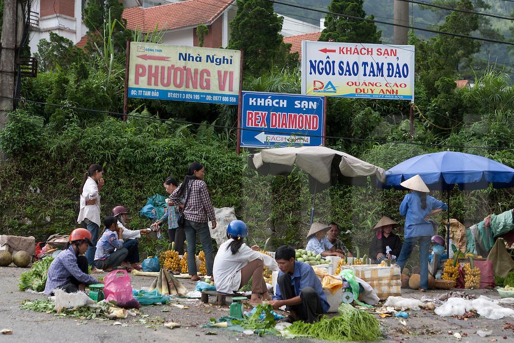 Market in Tam Dao.