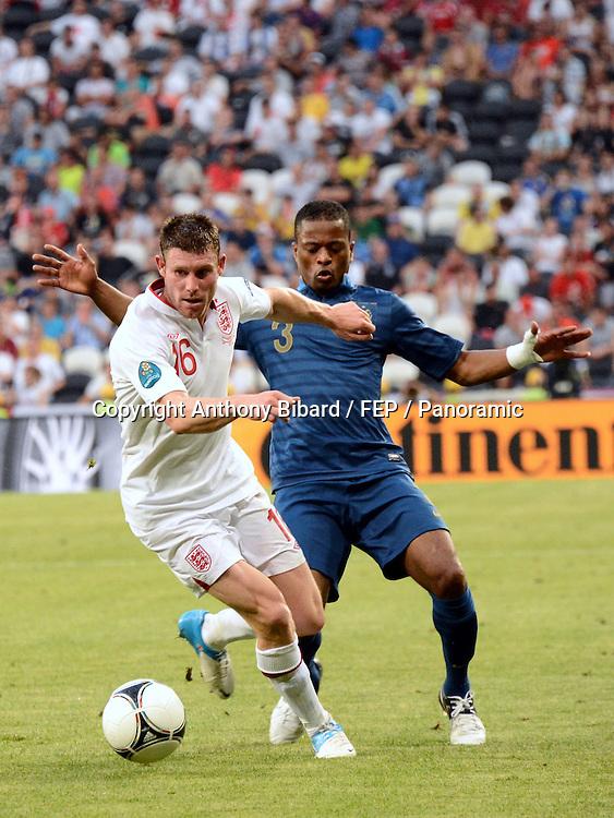 Patrice Evra (France) contre James Milner (Angleterre)