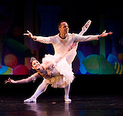 Duncan Cooper as the Cavalier, and Theresa Wendler as the Sugar Plum Fairy at the North Country Ballet Ensemble's 2008 production of the Nutcracker at the Hartman Theatre, Plattsburgh State University, Plattsburgh, N.Y.  (Photo/Todd Bissonette - www.rtbphoto.com)