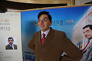 XUCHANG, CHINA - APRIL 7: (CHINA OUT)<br /> <br /> Celebrities Wax Figures Show In Sales Center For Promotion<br /> <br /> A wax figure of Mr. Bean stands in a sales center on April 7, 2014, in Xuchang, Henan Province of China. A real estate company in Xuchang shows some wax figures of celebrities for sales promotion.<br /> ©Exclusivepix