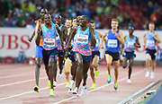 Timothy Cheruiyot (KEN) defeats Elijah Manangoi (KEN) to win the 1,500m in 3:33.93 during the Weltklasse Zurich in an IAAF Diamond League meeting at Letzigrund Stadium in Zurich, Switzerland on Thursday, August 24, 2017.   (Jiro Mochizuki/Image of Sport)