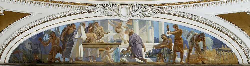 Second Floor, Northwest Pavilion. Mural of Science in the Pavilion of Art and Science by William De Leftwich Dodge. Library of Congress Thomas Jefferson Building, Washington, D.C.]