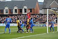 Blue square bet premier div, play off semi final match, 2nd leg, Newport county v Grimsby Town at Rodney Parade in Newport, South Wales on Sunday 28th April 2013. pic by Andrew Orchard,  Andrew Orchard sports photography,