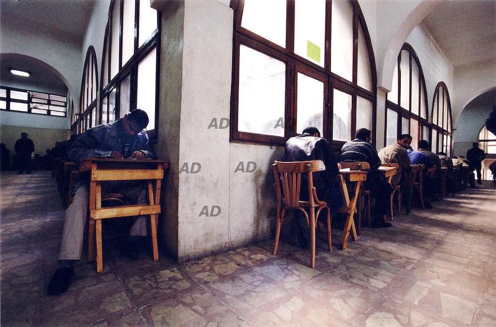 The new Al Azhar university, examination day.