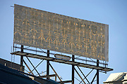 empty billboard on top of a building