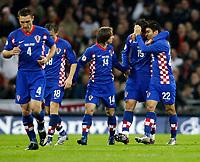 Photo: Richard Lane/Sportsbeat Images.<br />England v Croatia. UEFA European Championships Qualifying. 21/11/2007. <br />Croatia's Niko Kranjcar (19) celebrates his goal.