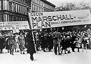 Marshall plan demonstration in Germany 1948