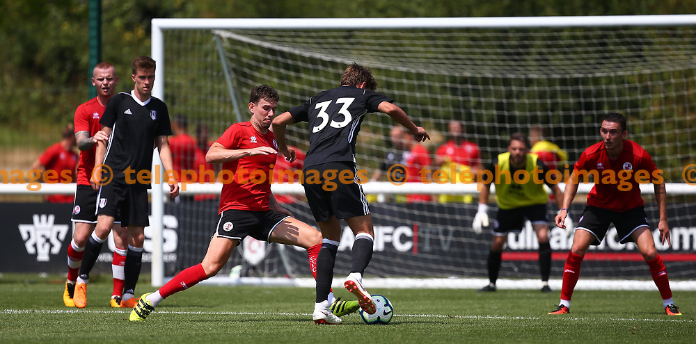 Crawley's Mark Randall during the pre season friendly between Fulham and Crawley Town at Motspur Park Training Ground, London, UK. 07 July 2018.