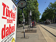 Vienna, Austria. EU election posters and billboards. FPÖ (right wing).