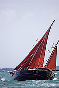 Blues Traveler racing in the Grenada Classic Yacht Regatta.