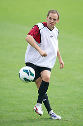 CARDIFF, WALES - Saturday, September 8, 2012: Wales' David Vaughan during a training session at the Vale of Glamorgan ahead of the 2014 FIFA World Cup Brazil Qualifying Group A match against Serbia. (Pic by David Rawcliffe/Propaganda)