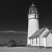 Cape Blanco Lighthouse - Oregon Coast - Infrared Black & White
