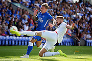 Bolton Wanderers defender Mark Beevers (5) clears acrobatically during the Pre-Season Friendly match between Peterborough United and Bolton Wanderers at London Road, Peterborough, England on 28 July 2018. Picture by Nigel Cole.