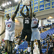 Austin Toros Forward and NBA veteran Josh Howard (15) grabs a rebound in the course of a NBA D-league regular season basketball game between the Delaware 87ers (76ers) and the Austin Toros (Spurs) Monday, Jan. 27, 2014 at The Bob Carpenter Sports Convocation Center, Newark, DE