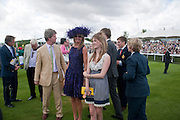 GUY SANGSTER; MRS. GUY SANGSTER; ELLAMAY SANGSTER, Glorious Goodwood. Sussex. 28 July 2010, -DO NOT ARCHIVE-© Copyright Photograph by Dafydd Jones. 248 Clapham Rd. London SW9 0PZ. Tel 0207 820 0771. www.dafjones.com.