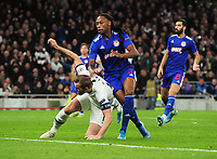 Football - 2019 / 2020 UEFA Champions League - Group B: Tottenham Hotspur vs. Olympiakos<br /> <br /> Harry Kane of Spurs scoring the equalising goal with at The Tottenham Hotspur Stadium.<br /> <br /> COLORSPORT/ANDREW COWIE