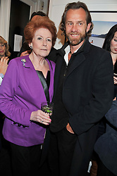 LADY ELIZABETH ANSON and her son JOTH SHAKERLEY at a private view of the late Patrick Lichfield: Nudes at The Little Black gallery, 13A Park Walk, London SW10 on 26th April 2012.