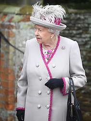 Queen Elizabeth II attends the Christmas Day morning church service at St Mary Magdalene Church in Sandringham, Norfolk.