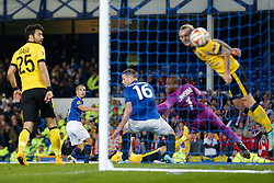 Leon Osman of Everton scores a goal to make it 1-0 - Photo mandatory by-line: Rogan Thomson/JMP - 07966 386802 - 06/11/2014 - SPORT - FOOTBALL - Goodison Park, Liverpool - Everton v LOSC Lille Metropole - UEFA Europa League Group H.