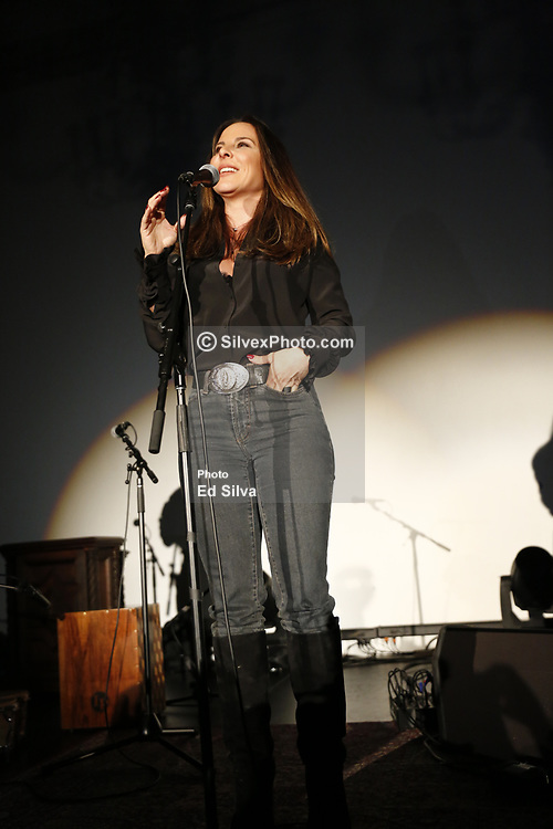 "LOS ANGELES, CA - MAY 8: Actress Kate Del Castillo attends La Santa Cecilia performance on stage at The Masonic Lodge at Hollywood Forever to debut their new album ""Amar y Vivir"" recorded live in Mexico City on Monday  May 8, 2017, in Los Angeles. Byline, credit, TV usage, web usage or linkback must read SILVEXPHOTO.COM. Failure to byline correctly will incur double the agreed fee. Tel: +1 714 504 6870."