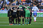 Bolton Wanderers in huddle before the Sky Bet Championship match between Reading and Bolton Wanderers at the Madejski Stadium, Reading, England on 21 November 2015. Photo by Mark Davies.