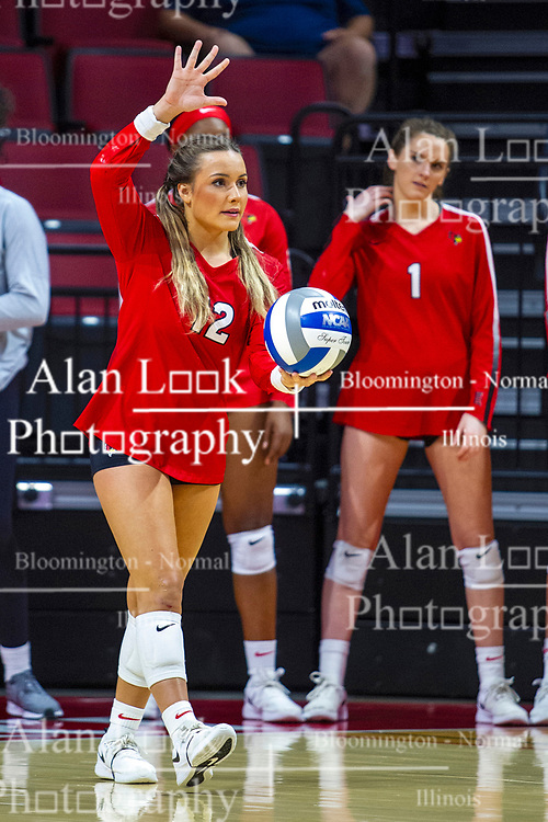 BLOOMINGTON, IL - September 14: Alyssa Kronberg during a college Women's volleyball match between the ISU Redbirds and the University of Central Florida (UCF) Knights on September 14 2019 at Illinois State University in Normal, IL. (Photo by Alan Look)