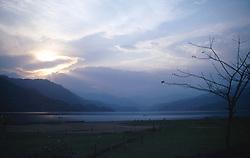 NEPAL POKHARA APR995 - General view on Pokhara Lake before sunset.<br /> <br /> jre/Photo by Jiri Rezac<br /> <br /> © Jiri Rezac 1995<br /> <br /> Tel: +44 (0) 7050 110 417<br /> Email: info@jirirezac.com<br /> Web: www.jirirezac.com