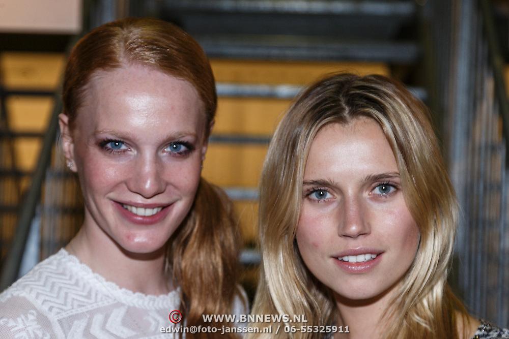 NLD/Amsterdam/20131113 - VIP avond bij Isabel Marant pour H&M, modellen Cicely Telman en Cato van Ee
