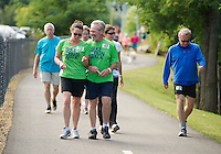 The 2013 WOW Fest brought out hundreds of walkers, runners and bikers on Saturday morning.   (Karen Bobotas/for the Laconia Daily Sun)
