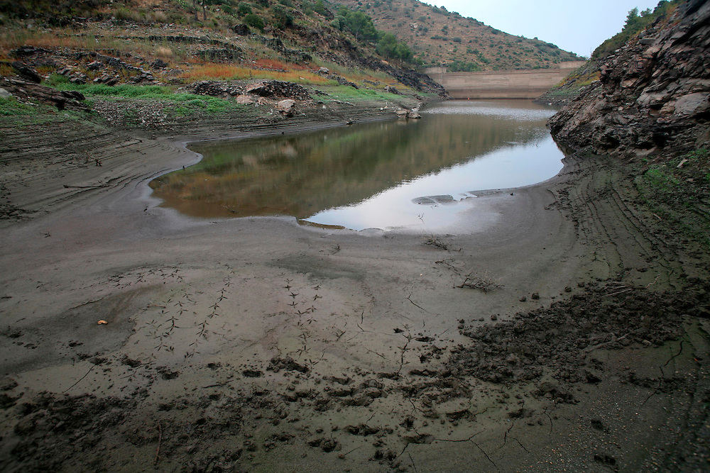 2008. Extreme drought in Catalonia. The marsh of Portbou (Alt Emporda, Catalonia. Spain) under minimums due to the lack of rain in the zone.