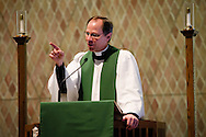 Dr. Charles A. Gieschen preaches during chapel at Concordia Theological Seminary on Monday, Jan. 20, 2014, in Fort Wayne, Ind. LCMS Communications/ Erik M. Lunsford