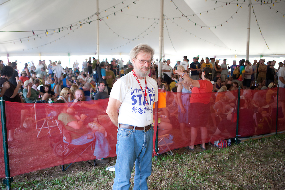 Lighting test stand in, Bill Molloy.  A dance tent ringleader.
