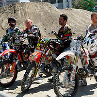 From left, Lusk, Faisst, Potter and Richmond at the FMX Finals at the AST Dew Tour Right Guard Open in Cleveland.