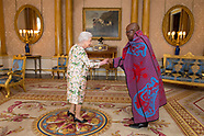 London: Lesotho HC Dr. John Oliphant and Ghana HC Papa Owusu-Ankomah with Queen - 29 June 2017