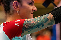30-05-2019 NED: Volleyball Nations League Netherlands - Poland, Apeldoorn<br /> Tattoo Malwina Smarzek #17 of Poland