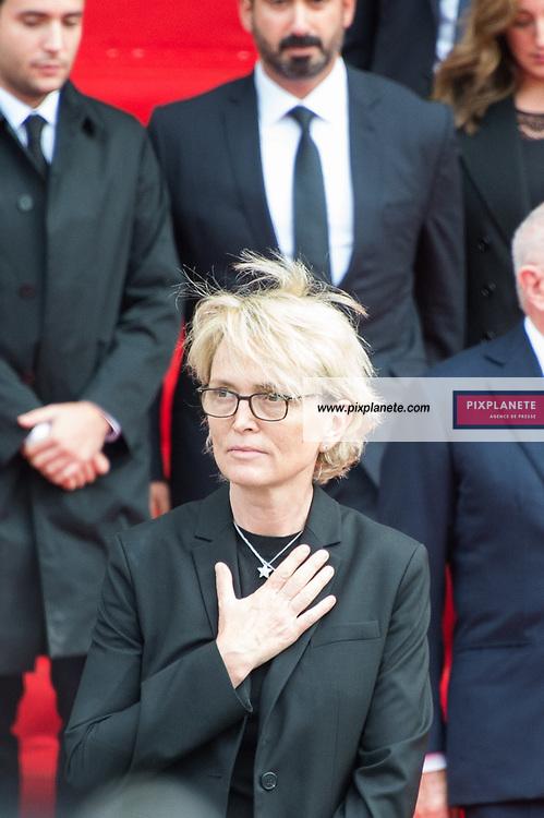 Claude Chirac Obsèques de Jacques Chirac Lundi 30 Septembre 2019 église Saint Sulpice Paris