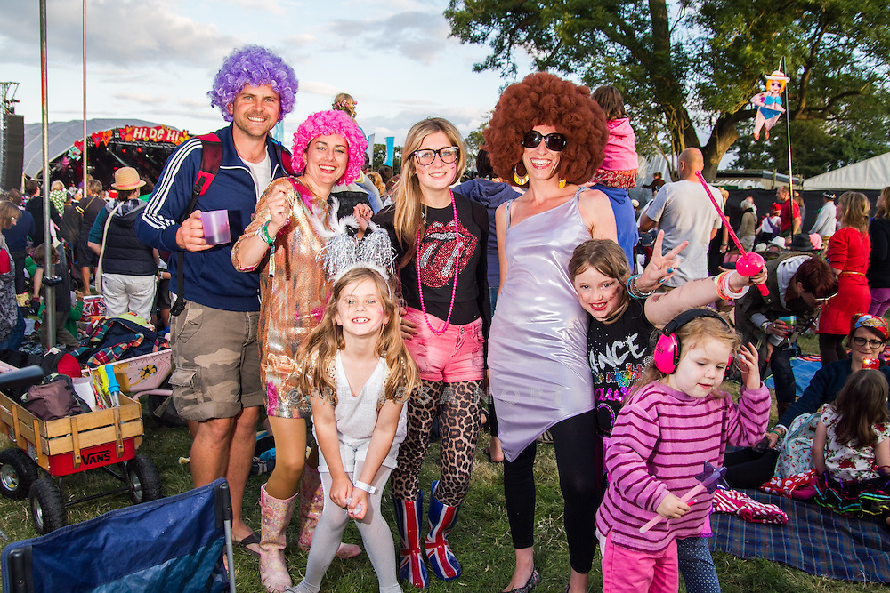 People in fancy dress at Camp Bestival, Lulworth, UK on Saturday 28th July 2012. Photo by Melissa North.  Ref B2779
